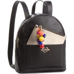 Plecak LOVE MOSCHINO - JC4107PP17LM0000 Nero. Czarne plecaki damskie marki Love Moschino, ze skóry ekologicznej, eleganckie. Za 959,00 zł.