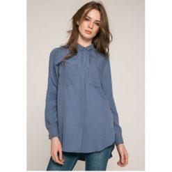Answear - Koszula Wild Nature. Szare koszule damskie ANSWEAR, l, z dzianiny, casualowe, z klasycznym kołnierzykiem, z długim rękawem. W wyprzedaży za 79,90 zł.
