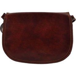 Torebki klasyczne damskie: Skórzana torebka w kolorze brązowym – 24 x 16 x 9 cm