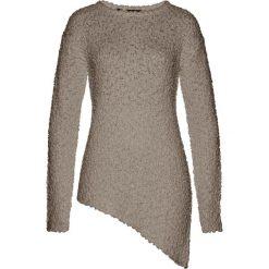 Sweter z asymetryczną linią dołu bonprix brunatny. Zielone swetry klasyczne damskie marki bonprix, w kropki, z kopertowym dekoltem, kopertowe. Za 79,99 zł.