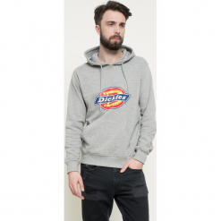 Dickies - Bluza. Szare bluzy męskie rozpinane marki Dickies, z bawełny. Za 249,90 zł.