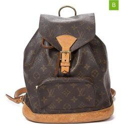 """Plecaki damskie: Plecak """"Montsouris PM"""" w kolorze brązowym – 21 x 24 x 10 cm"""
