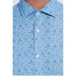 Trussardi Jeans - Koszula. Szare koszule męskie jeansowe marki Trussardi Jeans, z włoskim kołnierzykiem, z długim rękawem. W wyprzedaży za 269,90 zł.