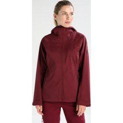 Mammut KEIKO HOODED Kurtka przeciwdeszczowa merlot. Czerwone kurtki damskie softshell Mammut, xs, z materiału, outdoorowe. W wyprzedaży za 603,85 zł.