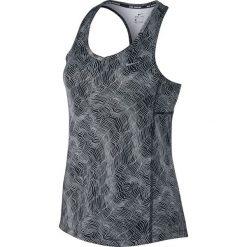 Bluzki damskie: koszulka do biegania damska NIKE DRY MILER TANK PRINT / 799558-010