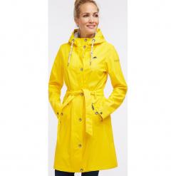 Płaszcz przeciwdeszczowy w kolorze żółtym. Żółte płaszcze damskie Schmuddelwedda, xs, w paski. W wyprzedaży za 347,95 zł.