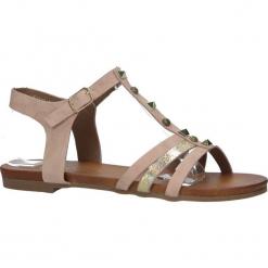 Różowe płaskie i lekkie sandały z dżetami Casu K18X3/P. Czerwone sandały damskie Casu, na płaskiej podeszwie. Za 39,99 zł.