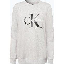 Calvin Klein Jeans - Damska bluza nierozpinana, szary. Szare bluzy damskie Calvin Klein Jeans, s, z napisami, z jeansu. Za 439,95 zł.