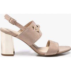 CheBello - Sandały. Czarne sandały damskie na słupku marki Mohito. W wyprzedaży za 219,90 zł.