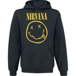 Nirvana Smiley Bluza z kapturem czarny. Czarne bejsbolówki męskie Nirvana, s, z nadrukiem, z kapturem. Za 164,90 zł.