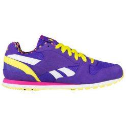 Skórzane buty sportowe w kolorze fioletowym. Fioletowe buty sportowe damskie Reebok, z materiału. W wyprzedaży za 149,95 zł.