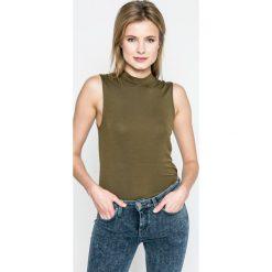 Vero Moda - Top Bina. Niebieskie topy damskie marki Vero Moda, z bawełny. W wyprzedaży za 34,90 zł.