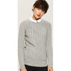 Sweter z kołnierzykiem - Jasny szar. Niebieskie swetry klasyczne damskie marki House, m. Za 79,99 zł.