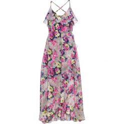 Sukienki: Sukienka w kwiaty bonprix jasnoszaro-jasnoróżowo-żółty w kwiaty