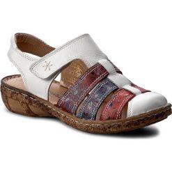 Rzymianki damskie: Sandały COMFORTABEL – 720109 Weiss/Bunt 3