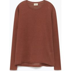 """Swetry klasyczne męskie: Lniany sweter """"Juliansbay"""" w kolorze czerwonobrązowym"""