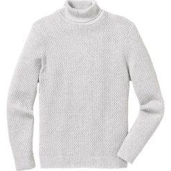 Sweter z golfem Regular Fit bonprix naturalny melanż. Białe golfy męskie marki bonprix, l, melanż, z dzianiny. Za 69,99 zł.