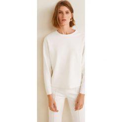Mango - Bluza Combo. Szare bluzy damskie Mango, l, z aplikacjami, z bawełny, bez kaptura. Za 119,90 zł.