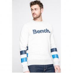 Bench - Bluza. Szare bluzy męskie rozpinane marki Bench, l, z aplikacjami, z bawełny, bez kaptura. W wyprzedaży za 139,90 zł.