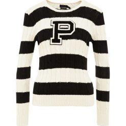 Swetry klasyczne damskie: Polo Ralph Lauren CLASSIC Sweter cream/black