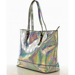 Shopper bag damskie: NOBO Hologramowy shopper bag srebrny