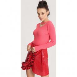 Różowy Sweter Moral Relaxation. Czerwone swetry klasyczne damskie marki other, na jesień, uniwersalny. Za 39,99 zł.