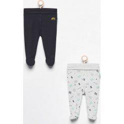 Odzież dziecięca: Spodnie ze stópkami 2 pack - Granatowy