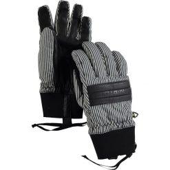 """Rękawiczki """"Dam"""" w kolorze biało-czarnym. Białe rękawiczki damskie marki Burton. W wyprzedaży za 84,95 zł."""