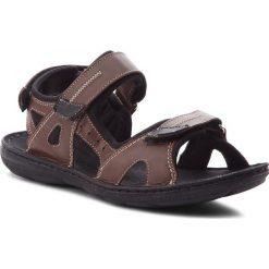 Sandały ŁUKBUT - 991 Brązowy. Brązowe sandały męskie skórzane Łukbut. W wyprzedaży za 149,00 zł.