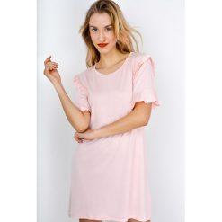 Sukienki: Sukienka plażowa z falbankami na rękawach