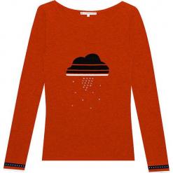 Sweter kaszmirowy w kolorze pomarańczowym. Brązowe swetry klasyczne damskie marki Ateliers de la Maille, z kaszmiru, z okrągłym kołnierzem. W wyprzedaży za 500,95 zł.