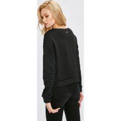 Guess Jeans - Bluza. Czarne bluzy z nadrukiem damskie marki Guess Jeans, l, z bawełny, bez kaptura. W wyprzedaży za 319,90 zł.
