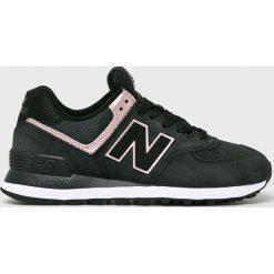 New Balance - Buty WL574NBK. Szare buty sportowe damskie marki New Balance, z materiału. Za 399,90 zł.