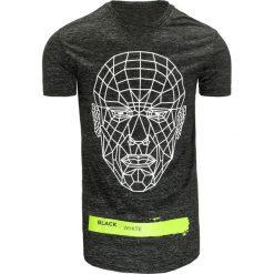 T-shirty męskie z nadrukiem: T-shirt męski z nadrukiem grafitowy (rx2082)