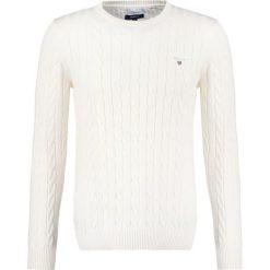 Swetry męskie: GANT CABLE CREW Sweter creme