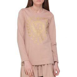 Bluzki asymetryczne: Bluzka w kolorze beżowo-różowym