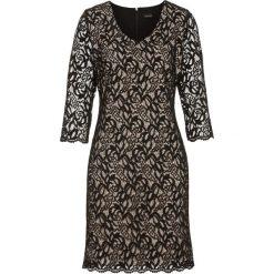 Sukienki: Sukienka bonprix czarno-beżowy