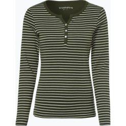 Brookshire - Damska koszulka z długim rękawem, zielony. Zielone t-shirty damskie marki bonprix, z kołnierzem typu henley. Za 99,95 zł.