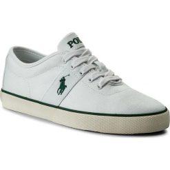 Tenisówki POLO RALPH LAUREN - Halford 816690652002 White. Białe tenisówki męskie marki Polo Ralph Lauren, z gumy. W wyprzedaży za 239,00 zł.