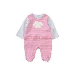 Staccato  Śpioszki komplet shiny pink structure - Gr.Niemowlę (0 - 6 miesięcy). Różowe pajacyki niemowlęce Staccato, z bawełny. Za 85,00 zł.
