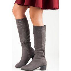 WYGODNE SZARE KOZAKI. Szare buty zimowe damskie Super Mode. Za 115,00 zł.