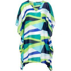 Sukienki: Sukienka plażowa bonprix zielono-niebiesko-biały