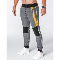 SPODNIE MĘSKIE DRESOWE P639 - GRAFITOWE. Szare spodnie dresowe męskie Ombre Clothing, z bawełny. Za 55,00 zł.