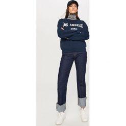 Bluza z nadrukiem - Granatowy. Niebieskie bluzy chłopięce rozpinane marki Reserved, l, z nadrukiem. Za 79,99 zł.