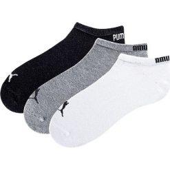 Skarpety stopki Puma (3 pary) bonprix biały + szary + czarny. Białe skarpetki męskie marki bonprix. Za 38,97 zł.