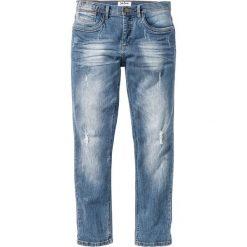 """Dżinsy ze stretchem Slim Fit Straight bonprix niebieski """"used"""". Zielone jeansy męskie relaxed fit marki bonprix, w kropki, z kopertowym dekoltem, kopertowe. Za 109,99 zł."""