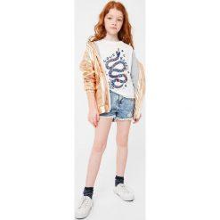 Bluzki dziewczęce bawełniane: Mango Kids - Top dziecięcy Toluca 110-164 cm