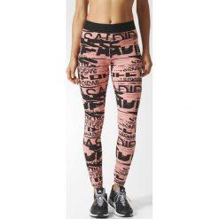 Spodnie sportowe damskie: Adidas Spodnie damskie Sport ID Allover Print czarno-różowe r. XL (BP9276)