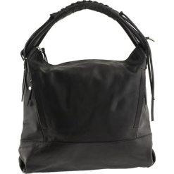 Torebki klasyczne damskie: Skórzana torebka w kolorze czarnym – 35 x 32 x 10 cm
