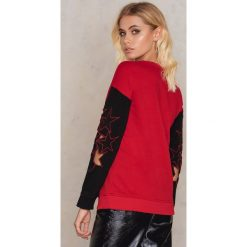 Bluzy damskie: Trendyol Bluza Kirmizi - Black,Red,Multicolor